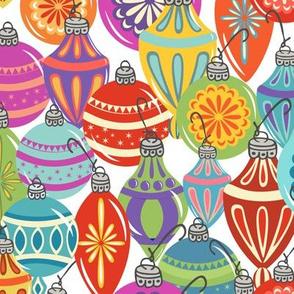 Multi Ornaments (no snow) - White