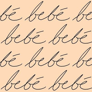 'Bebe' in Peach // Large