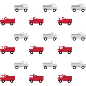 trucks in a row - red and gray LARGE6