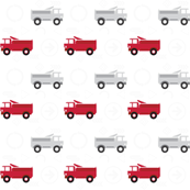 trucks in a row metro signs - red and gray LARGE6