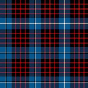 "MacKeane blue tartan, 6"" bright"