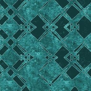 rhombus  design in teal