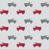 trucks in a row on gray LARGE6 - red and dark gray