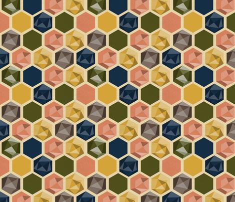 Hexagons-of-Autumnia fabric by linziloop on Spoonflower - custom fabric