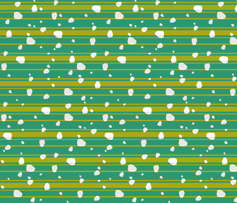 saffron & green stones & stripes fabric by variable on Spoonflower - custom fabric