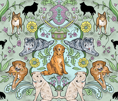 Dogs I Have Loved 2 fabric by vinpauld on Spoonflower - custom fabric