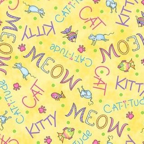 Cat Words Yellow
