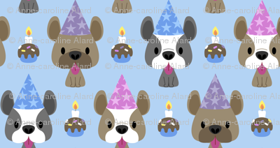 French bulldog birthday party