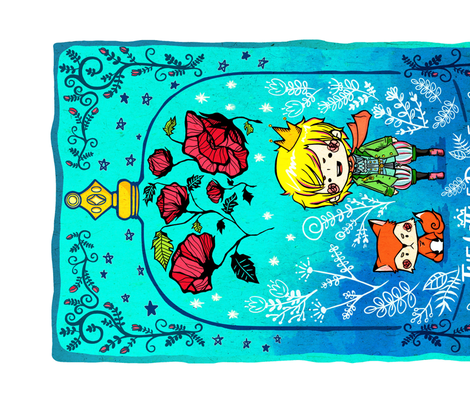 The little prince and the fox  fabric by bitto718 on Spoonflower - custom fabric