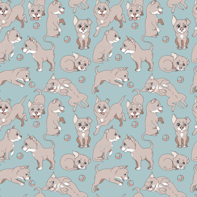 dogs pastel color