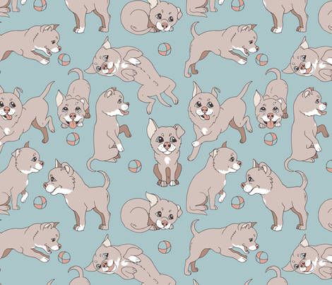 dogs pastel color fabric by minyanna on Spoonflower - custom fabric