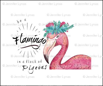Flamingo mini lovey