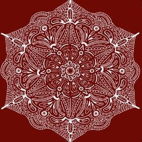Red Lace Snowflake