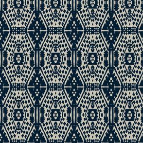 Blue block print