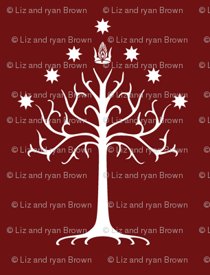 White Tree of Gondor // Burgundy