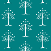 White Tree of Gondor // Teal