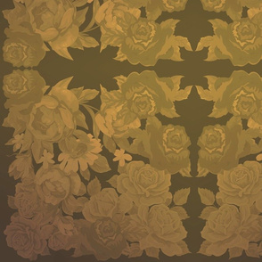 camo roses-orange/brown time machine-Flu