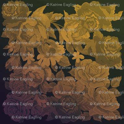 camo roses-orange/brown polaroid film