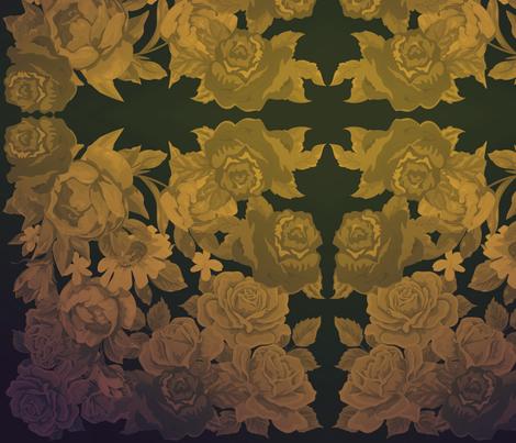 camo roses-orange/brown polaroid film fabric by kae50 on Spoonflower - custom fabric