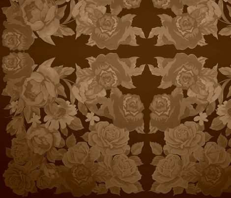 camo roses-orange/brown sepia fabric by kae50 on Spoonflower - custom fabric