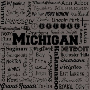 Michigan cities,  gray