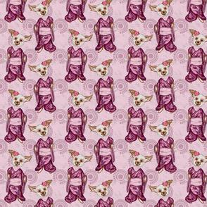 Pink Sakura Dog Small
