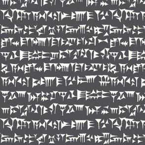 Babylonian Cuneiform on Grey // Small