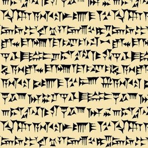 Babylonian Cuneiform on Tan // Small