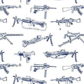 Machine Guns Blue