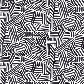 Painted Lines-black
