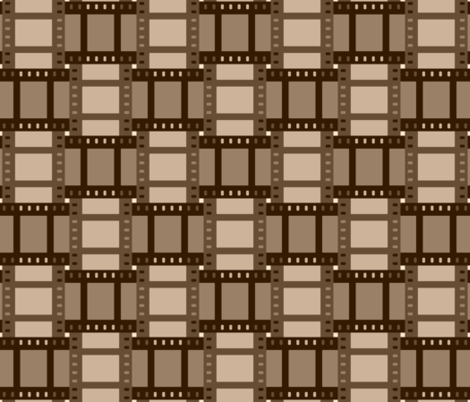 07058546 : film cell weave : sepia fabric by sef on Spoonflower - custom fabric