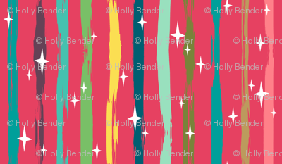 Festive Sparkle Stripes
