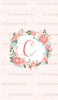 C monogram two yard cotton sheet