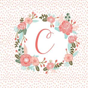 C monogram two yard cotton sheet