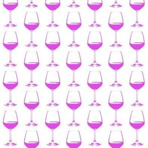 Pink Wine Glass // Small