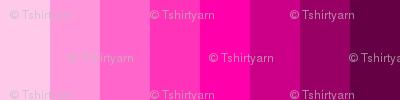 """T-Shirt Yarn 1"""" Strips - Spoonflower V2.1 Color Guide - Column 17"""