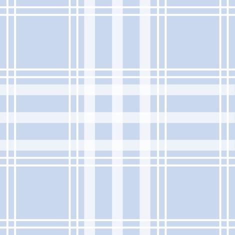 Hallvard Tartan pale blueberry fabric by lilyoake on Spoonflower - custom fabric