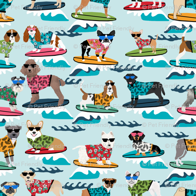 surfing dogs - cute summer surf dogs