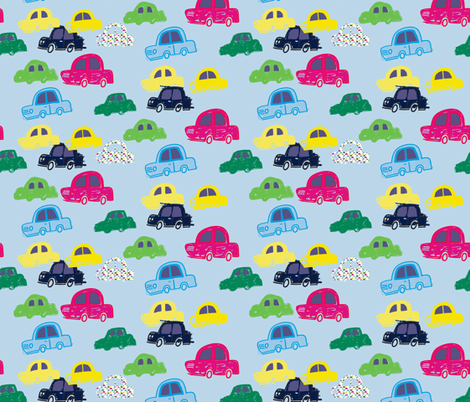 chasing cars fabric by claireybean on Spoonflower - custom fabric