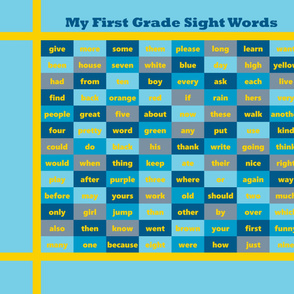 First Grade Sight Words Cheater Quilt