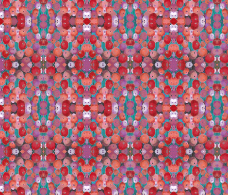 Red and Orange Poppy fabric by peaceofpi on Spoonflower - custom fabric