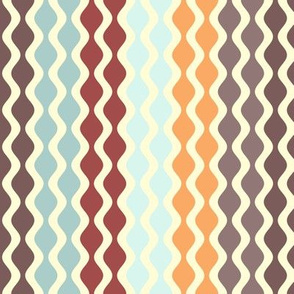 Falling Waves Seamless Repeating Pattern on Beige