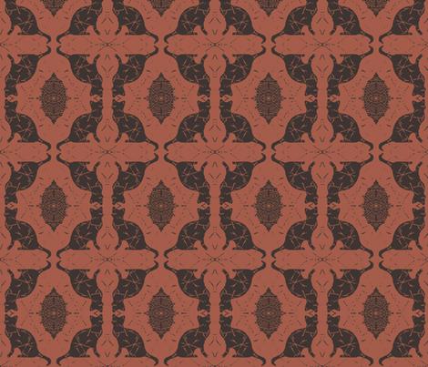Cat Silhouette Cinnamon Chocolate fabric by peaceofpi on Spoonflower - custom fabric