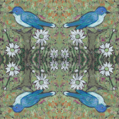 Bluejay Daisy in Olive
