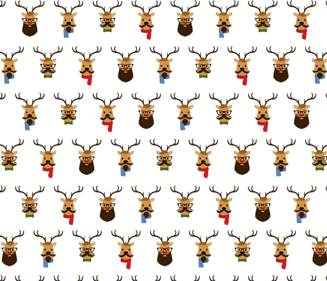 Hipster Reindeer fabric by girlfrommars on Spoonflower - custom fabric