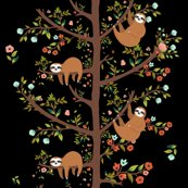 Sloths_love_pink_black_shop_thumb