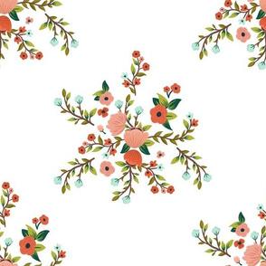 """10.5"""" Sloths Love Pink Florals / MIX & MATCH"""