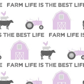 farm life is the best life - grey and purple farm collection