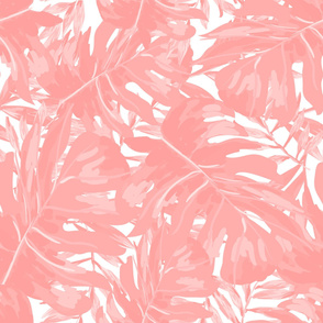 "36"" Tropical Leaves - Pink"