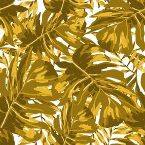 """8"""" Tropical Leaves - Gold"""